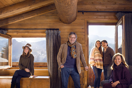 The Sibuets in Megève, Group Portrait, Vanity Fair UK